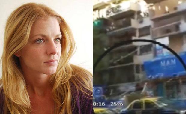 El impactante video del accidente en la calle de Geraldine Neumann