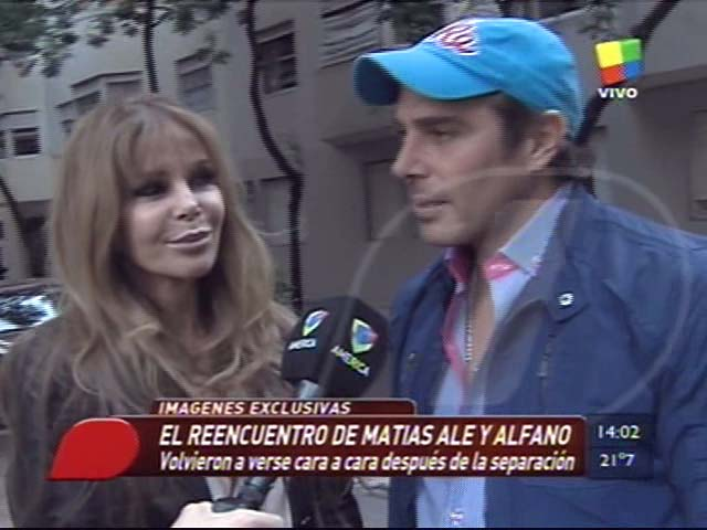 El reencuentro de Graciela Alfano y Matías Alé: el video