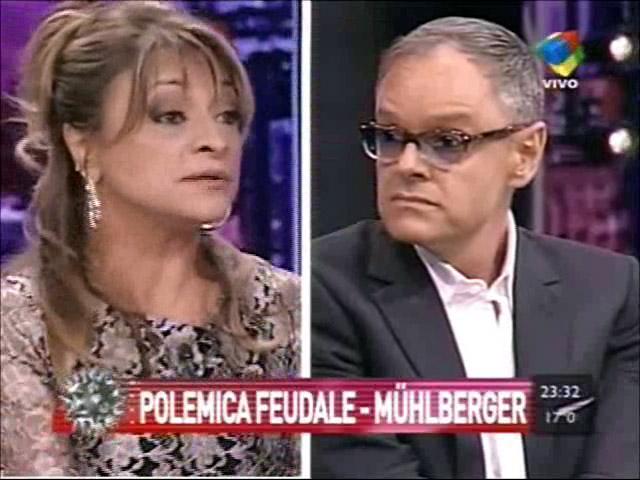 La tensa discusión en vivo de Marcela Feudale y el Dr. Mühlberger