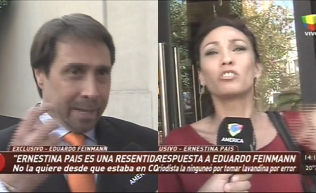 Escandalosa pelea entre Eduardo Feinmann y Ernestina Pais