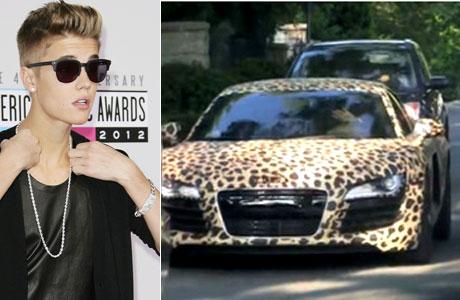 Justin Bieber y su nuevo auto animal print