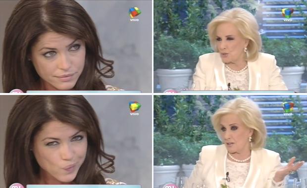 Mirtha Legrand y Pamela David se sacaron chispas en vivo