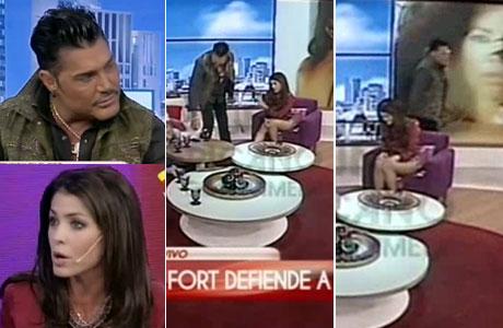 Pamela David y Ricardo Fort tuvieron tenso cruce en vivo: el video con sus reacciones