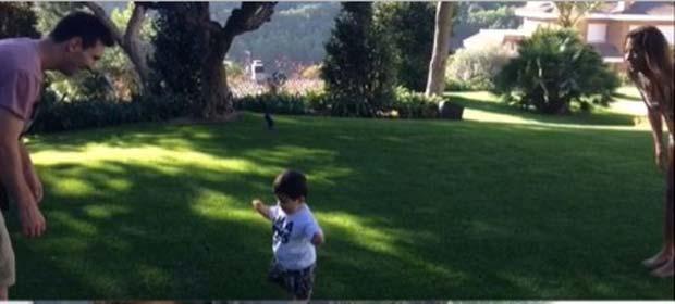 Los primeros pasos de Thiago Messi