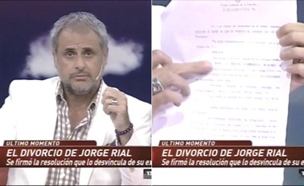 Jorge Rial habló de su divorcio en Intrusos