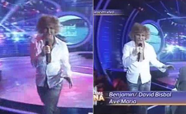 Benjamín Amadeo imitó a David Bisbal en Tu cara me suena
