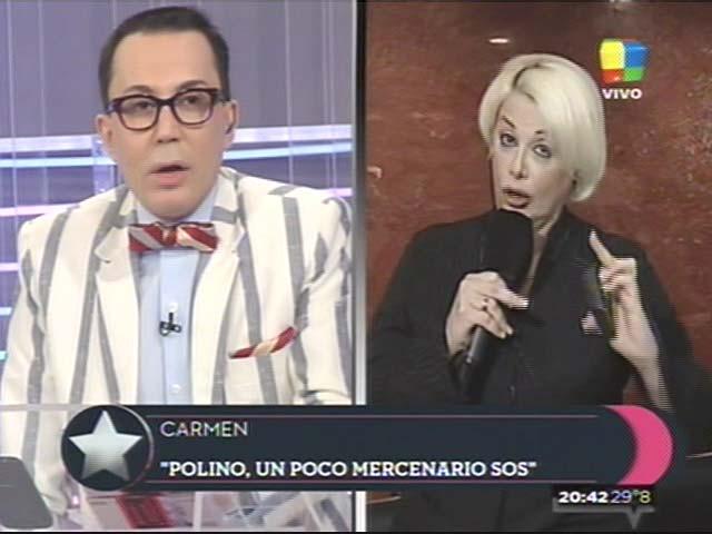 Carmen Barbieri y Marcelo Polino: se reconciliación en vivo