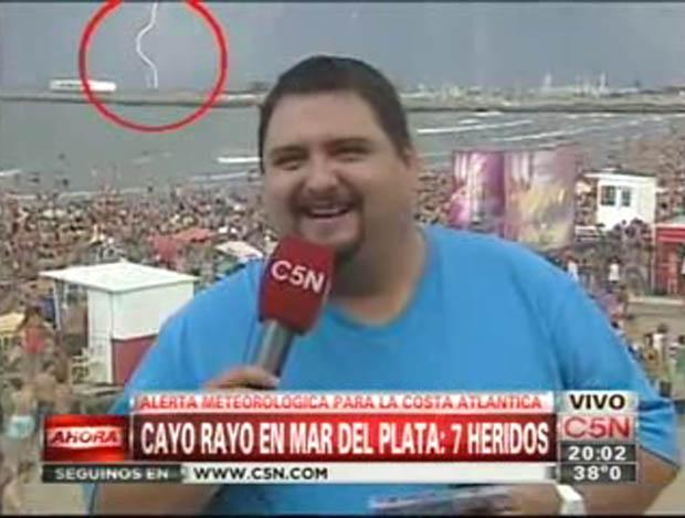 Así se vio la caída de rayos en Mar del Plata durante una nota en Viva la tarde