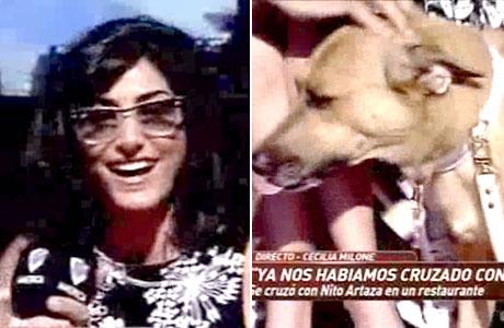Cecilia Milone se encontró con Nito Artaza en Mar del Plata ¡y su perra lo reconoció!