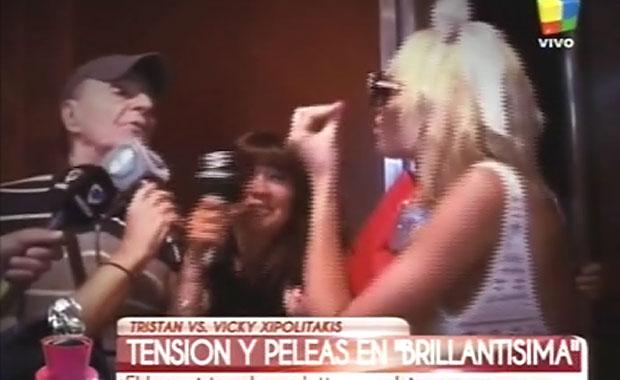 Escándalo en el hall del teatro: el explosivo cruce de Tristán y Vicky Xipolitakis