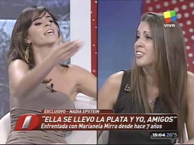 La discusión de Marianela Mirra y Nadia Epstein en Intrusos