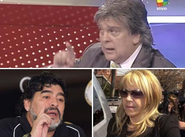 El detectivesco pedido de Diego Maradona a Luis Ventura por Claudia Villafañe
