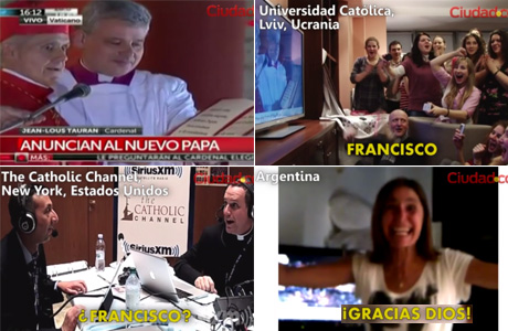 Video emotivo: así reaccionaron en todo el mundo con la elección del papa Francisco