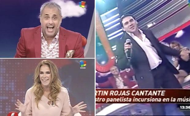 El panelista de Intrusos Martín Rojas debutó como cantante de cumbia