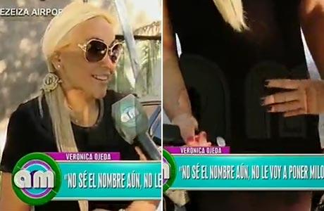 Verónica Ojeda mostró su pancita de tres meses: