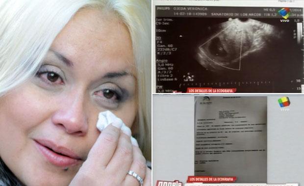 Verónica Ojeda mostró los documentos que prueban su embarazo
