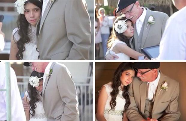 Un enfermo terminal lleva a su hija de 11 años al altar