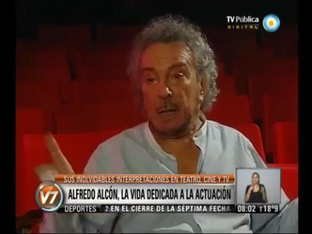 Alfredo Alcón hablando sobre la muerte