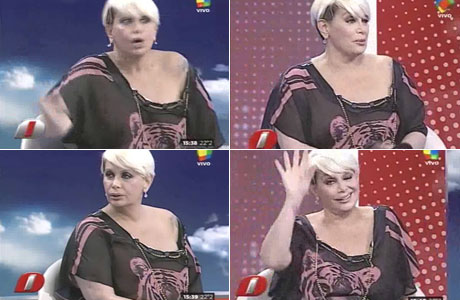 El ¡jugadísimo! look transparente de Carmen Barbieri en Intrusos: ¿se le fue la mano?