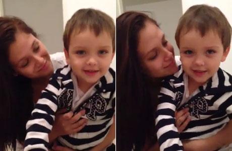 El emotivo video del hijo de Nazarena Vélez y Fabián Rodríguez: