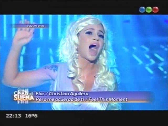 Florencia Peña fue Christina Aguilera en Tu cara me suena