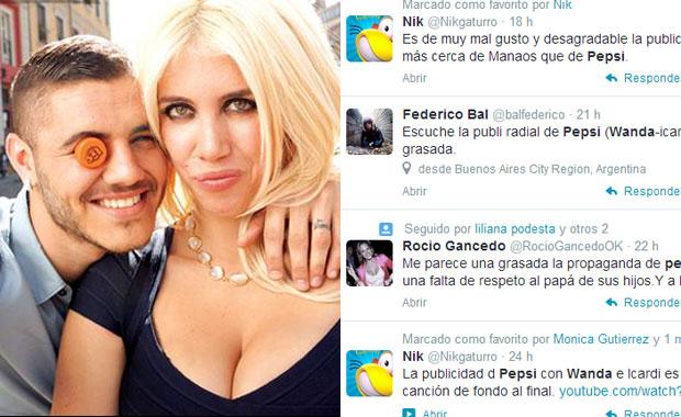 Repudio en las redes sociales a la polémica publicidad de Wanda Nara Mauro y Mauro Icardi