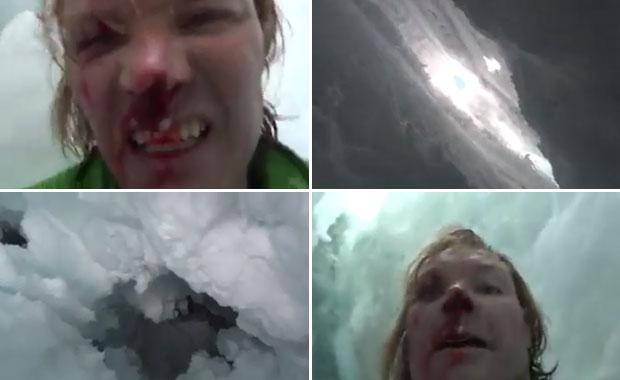 El increíble video de un hombre que escapó de la muerte en los Himalayas
