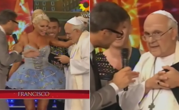 Impecable imitación de Freddy Villarreal al Papa Francisco en ShowMatch