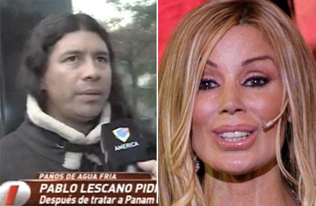 Pablo Lescano le pidió disculpas a Panam por agredirla verbalmente: