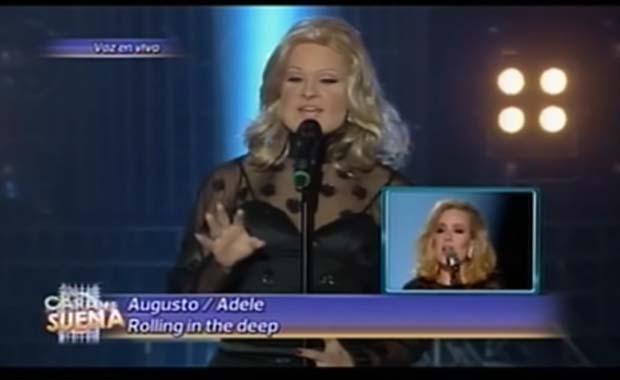 Augusto Schuster fue Adele en Tu cara me suena