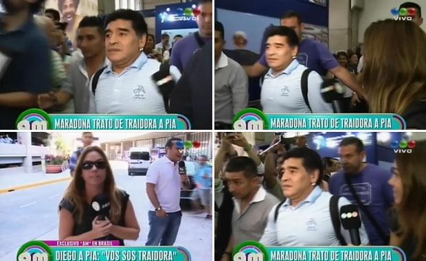 """Diego Maradona, rencoroso con Pía Shaw por su nota a Verónica Ojeda: """"Vos sos traidora"""""""