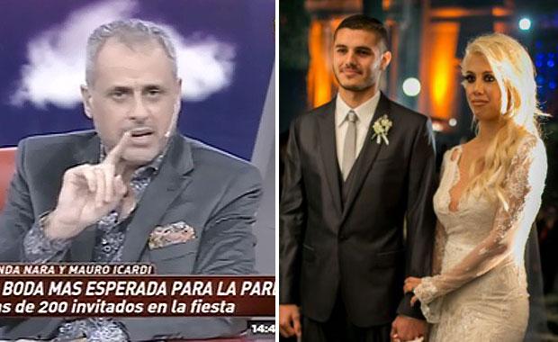 La ácida crítica de Jorge Rial a la boda de Wanda Nara y Mauro Icardi: