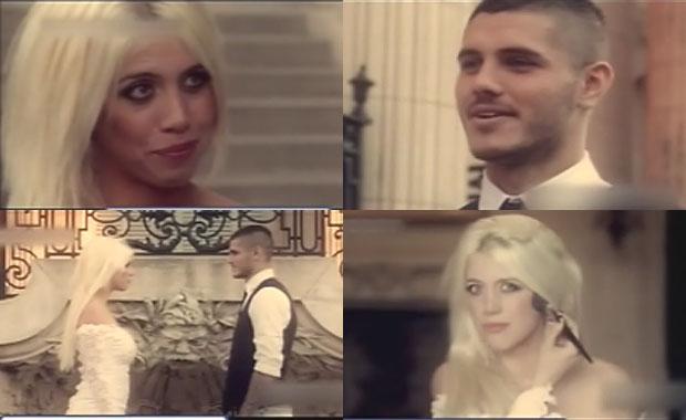 El singular video que Wanda Nara y Mauro Icardi presentaron en su boda: ¡súper producción!