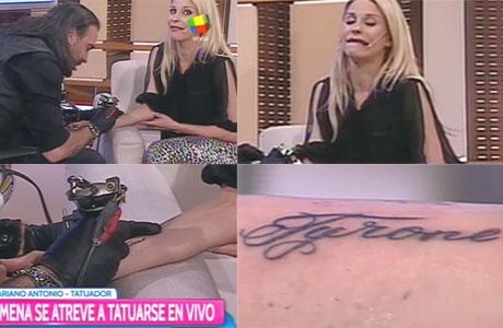 Jimena Cyrulnik se tatuó en vivo: