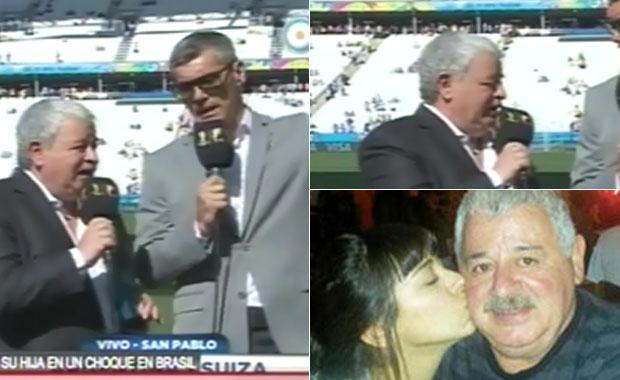 Conmovedor: así Tití Fernández agradecía la presencia de su hija en el partido de Argentina contra Suiza