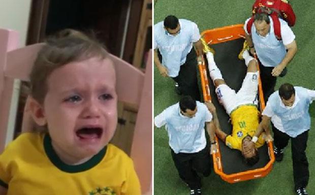 Neymar: el llanto desconsolado de una nena por la lesión del delantero