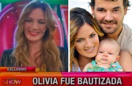 Paula Chaves se bautizó junto a Olivia: