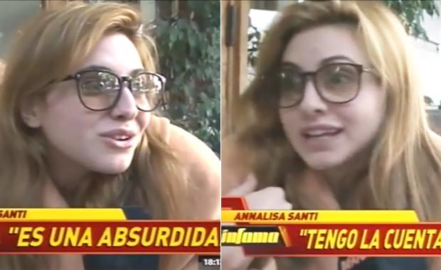 Annalisa Santi se defendió por los aberrantes tweets de su cuenta