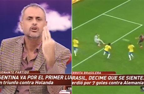 Jorge Rial se rió de Brasil tras ser humillado por Alemania: