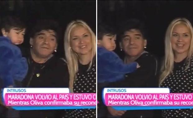 Diego Maradona llegó al país y fue a ver a Verónica Ojeda y Dieguito Fernando