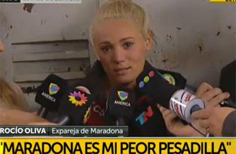 Rocío Oliva salió en libertad y disparó contra Maradona: