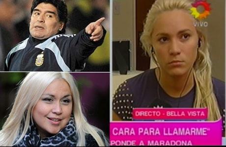 Rocío Oliva le hizo la cruz a Maradona: