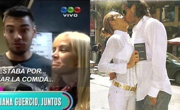 Sergio Romero y Eliana Guercio, enamorados en TV: