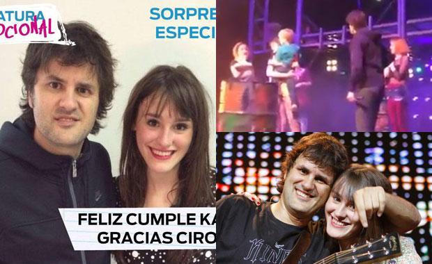 La emotiva sorpresa de Ciro a su hija Katja en su cumple: ¡el video junto a ella en el escenario!