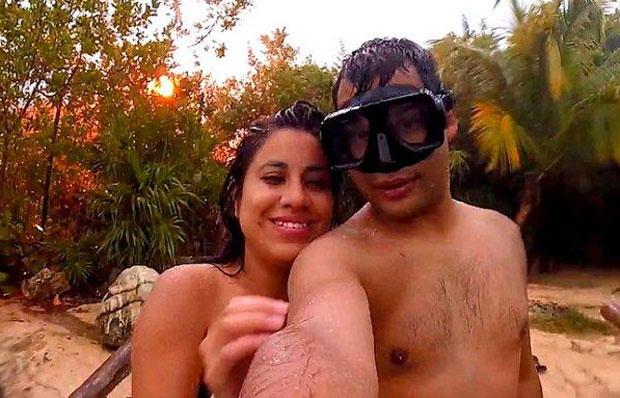 Una pareja se estaba tomando una selfie y casi les cae un rayo encima
