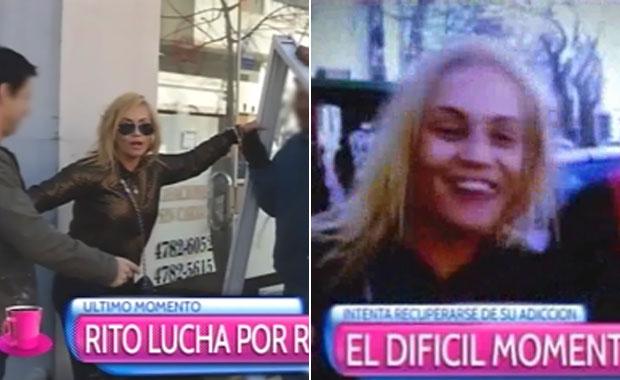María Eugenia Ritó: fuerte video en la calle
