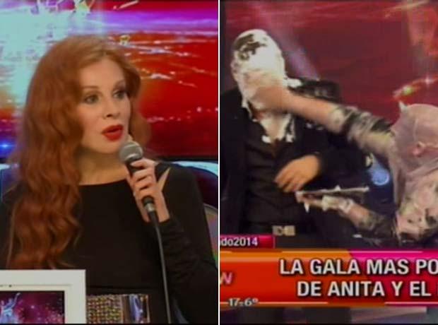 Nacha Guevara, indignada por la guerra de tortas en ShowMatch