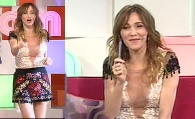 El look anti lunes de Vero Lozano en AM: ¡súper escote y minifalda!