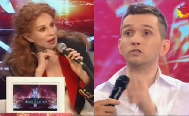 """La pelea de Nacha Guevara y Diego Reinhold en ShowMatch: """"Te hacés la canchera, ¿quién sos?"""""""