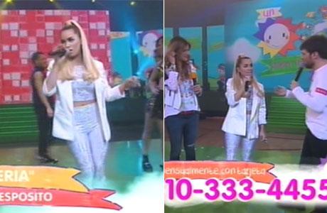 Lali Espósito cantó en vivo en Un sol para los chicos con un súper look